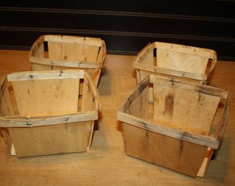 Vintage Berry Containers - set of 4 - item #2847-8
