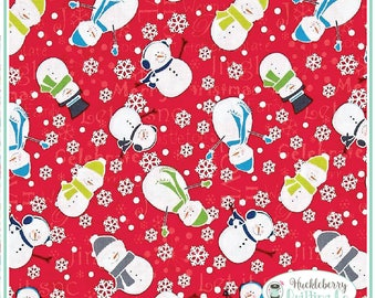 Mulberry Lane, Snowman, Yardage, Cherry Guidry, Benartex Fabric, Christmas Fabric