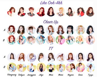 Twice 1.25 inch pinback button from Cheer Up, Knock Knock and more