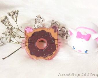 Cat Donut Brooch