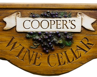 Wine Cellar Personalized Sign