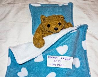 DOLL or teddy BEDDING blanket pillow set for pram or cot