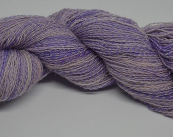 Hand spun Polwarth/Merino Lace Weight Yarn hand painted Purple Shades