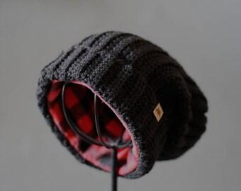 CROCHET HAT PATTERN - Huntsman Slouchy Hat Crochet Pattern - Crochet Slouchy Beanie Pattern - Crochet Hat Pattern - Crochet Pattern for Men