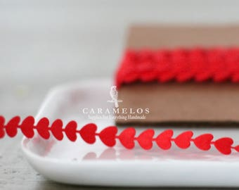 Red Heart Cutouts Ribbon/Trim Die Cut