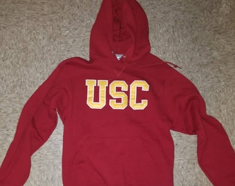 Russell Athletic Stitched USC Trojans Hoody Size Sz S can fit M