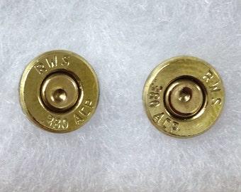 380 auto bullet ammo jewelry earrings unique flat cut