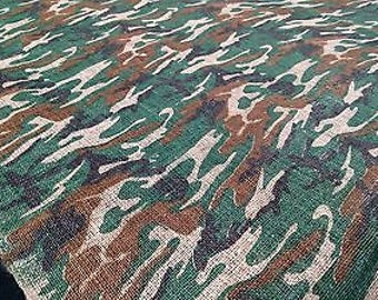 """48""""W Woodlands Camo Burlap By The Yard Premium Natural  Jute Upholstery Fabric"""