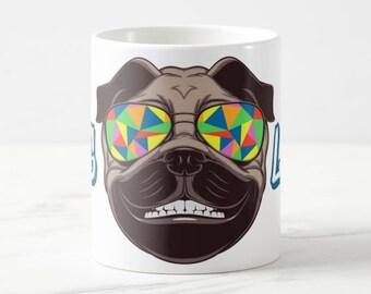 Pug Mug, pug life, dog lover gift, unique pug gift, pug gift, pug lover gift, 11 oz funny pug mug, pug art gift