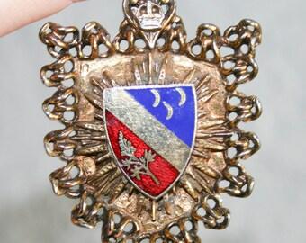 Reinad Heraldic Enamel Crest Brooch Pendant