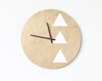 Modern Wall Clock, Wood Clock,  Minimalist Art, Unique Wall  Clocks,  Housewares, Home and Living