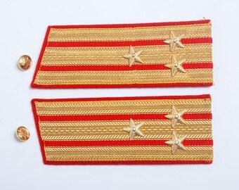 Vintage Soviet Army officer uniform shoulder boards, shoulder strap, colonel  internal troops VV.