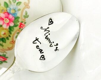 Mimi Gift, Mimi's Tea Spoon, Gifts for Grandma, Gift for Nana, Mimi's Tea, For Mimi from kids, Gift for Mimi