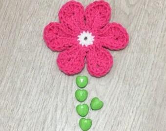 Crochet flower 6 petals PDF pattern