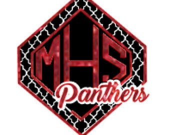 Monticello Panthers Moroccan Glitter Tee, hoodie, or tank **CUSTOMIZED**