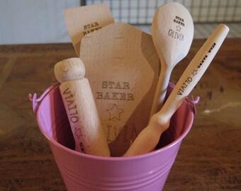 Personalised Children's Baking Set