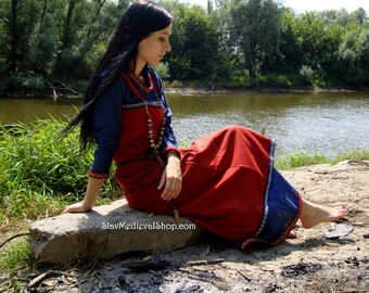 Viking Apron  made of wool, Early Medieval ,Pinafore for Viking Reenactors, Viking Costume
