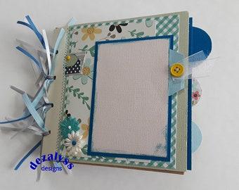 PREMADE SCRAPBOOK, Paper Bag Scrapbook, Paper Bag Album,  Premade Pages, Scrapbook, Gift for Her, Mini Album, Paper Piecing, Wedding, Mom