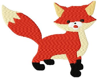 Fox Embroidery Design - Instant Download