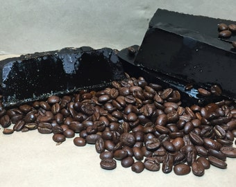 African Black Soap with Coffee