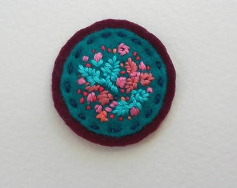 Funky Flora Badge (patch, pin, brooch, or magnet)