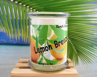 Tropical Lemon BreezePremium Scented Candle/scented candle/fragrant candle/summer candle/container candle/jar candle/hand poured candles