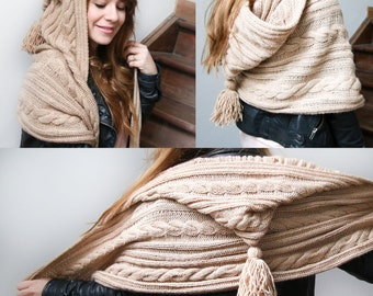 Scarf up MAXI with integrated Cap