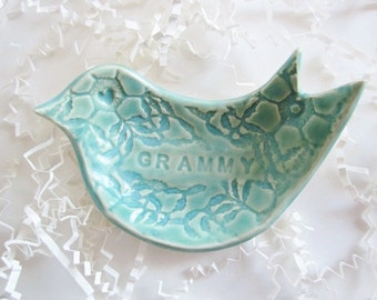 Gramma ring holder, dove jewelry dish, Grandmother, Mothers Day gift, Grammy, Nonna gift, Mothers day gift, Nana gift, ceramics and pottery