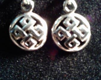 Sterling silver Celtic knot earrings #15