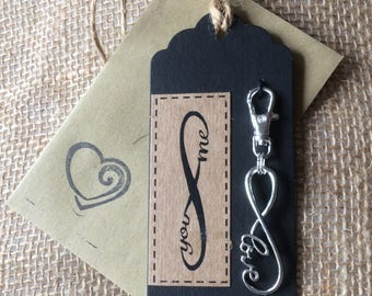 Gift Tag Gift Charm - Eternity symbol Charm - Love