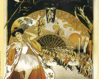 """Steinlen's """"Le Reve - Academie Nationale de Musique"""" Reproduced French Vintage Poster to Frame or Paper Arts, Collage, Scrapbooking PSS 2322"""