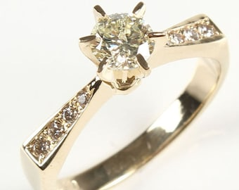 1/2 carat Diamond Engagement Ring-Solitaire diamond engagement ring-Promise ring- Multistone ring-Anniversary ring-For her-Solitaire ring
