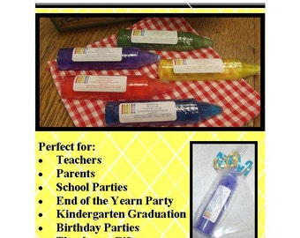 10 Crayon Soap, 10  Crayon Favors - Teacher Appreciation Gift, Class Soap Favor, End of the Year Party Gift, Kindergarten Graduation