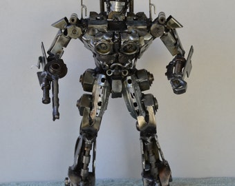 "Hand Made OPTIMUS PRIME TRANSFORMERS 14""  Recycled Scrap Metal Sculpture"