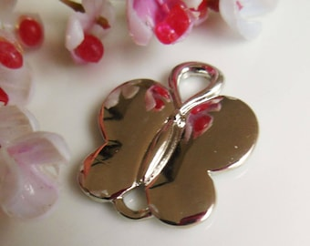 pretty silver Butterfly charms