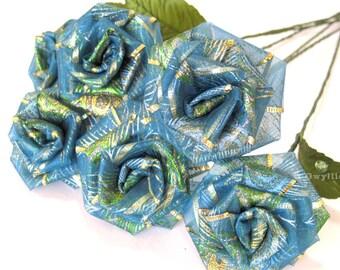 Peacock Blue Rose Bouquet