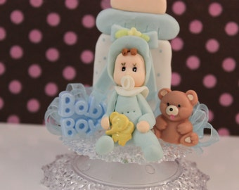 Baby Boy Shower Cake Topper/ Baby Shower/ Decoration