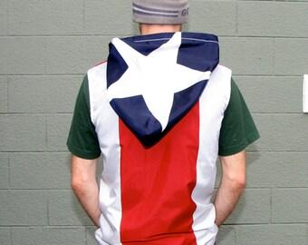 Puerto Rico Hoodie- Mens Jacket- handmade mens hoodie - zippered - mens shirt- mens clothing- jacket - upcycled clothing - windbreaker