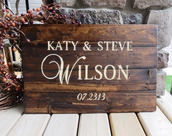 Your Family Name Customized Wood Sign - Established Date Sign, Rustic, Distressed, Country, Farmhouse, Shabby, Wood Plank, Home Decor