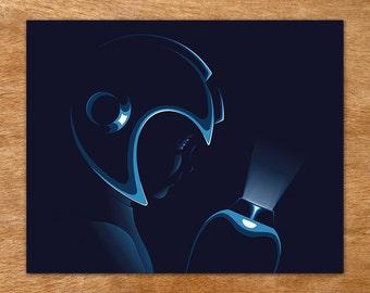Weight of the World - Mega Man handmade screen print