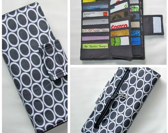 Credit Card Organizer Wallet, Card Organizer, Gift Card Holder, Credit Card Wallet, Zipper Coin Pocket, Business Card wallet, Womens Wallet