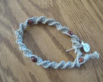 Macramé perlé bracelet/bracelet de cheville