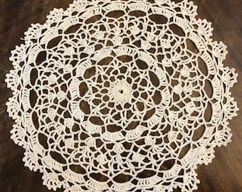 Crocheted Doily in Cotton Thread