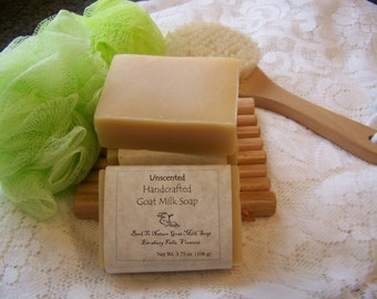 Pure & Natural, scent free Goat Milk Soap bar/made in Vermont....free from preservatives, scents and harsh chemicals