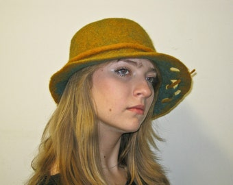 """Hand made felted hat - """"Autumn"""""""