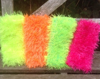 Phone Sock. Neon Fluffy Phone Covers. Cell Phone Pouch.