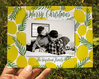 Custom Design Chic Letterpress Holiday Cards (with photo)
