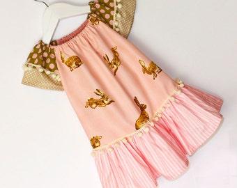 EASY Peasant dress pattern, Girls dress pattern PDF, Childrens sewing pattern pdf, girls clothing pattern, toddler pattern, CAROUSEL
