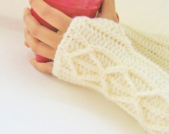 Fingerless Gloves Crochet Pattern Faux Cables,Fingerless Mittens Crochet Pattern, Arm Warmers Crochet Pattern, Wrist Warmers Crochet Pattern