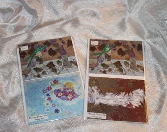 Set Presssed Flower Art Notecards Set Of 4 All Occasion Cards Gift Set Stationery